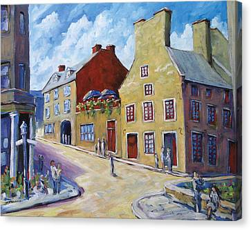 Calvet House Old Montreal Canvas Print by Richard T Pranke
