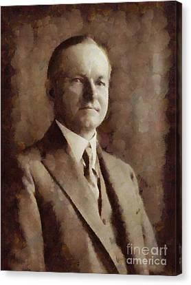Calvin Coolidge, President United States By Sarah Kirk Canvas Print by Sarah Kirk