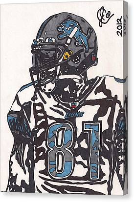 Calvin Johnson Jr 3 Canvas Print by Jeremiah Colley