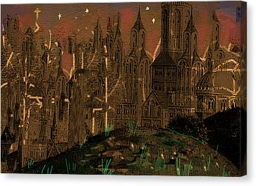Calvino's Night...after Van Eyck Canvas Print by Paul Sutcliffe