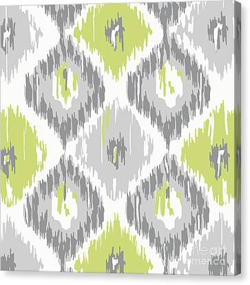 Calyx Ikat Pattern Canvas Print by Mindy Sommers