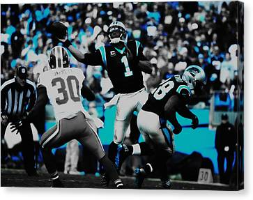 Tebow Canvas Print - Cam Newton 03a by Brian Reaves