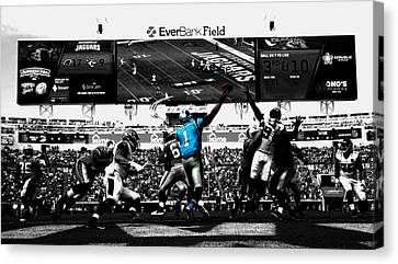 Tebow Canvas Print - Cam Newton 2f by Brian Reaves