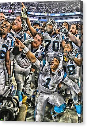 Cam Newton Art 1 Canvas Print by Joe Hamilton