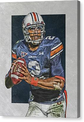 Cam Newton Auburn Tigers Art Canvas Print by Joe Hamilton