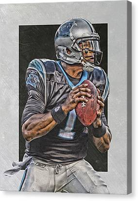 Cam Newton Carolina Panthers Art Canvas Print by Joe Hamilton