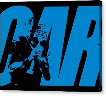 Cam Newton Carolina Panthers Canvas Print by Joe Hamilton