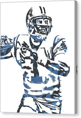 Cam Newton Carolina Panthers Pixel Art 11 Canvas Print
