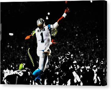 Tebow Canvas Print - Cam Under Pressure by Brian Reaves