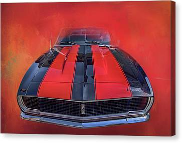 Canvas Print featuring the photograph Camaro - Forged By Fire by Theresa Tahara