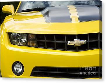 Camaro In Yellow Canvas Print