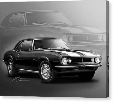 Camaro Z28 1967 Canvas Print by Etienne Carignan