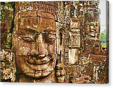 Cambodia Faces  Canvas Print by Dennis Cox WorldViews