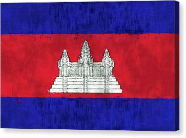 Cambodia Flag Canvas Print by World Art Prints And Designs