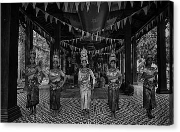 Cambodian Temple Dancers Canvas Print by David Longstreath