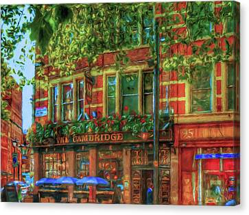Cambridge Circus Stroll  Canvas Print by Connie Handscomb