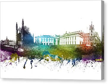 Cambridge Cityscape 01 Canvas Print by Aged Pixel