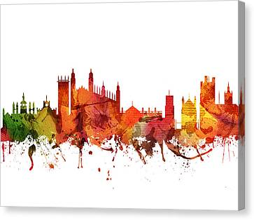 Cambridge Cityscape 04 Canvas Print by Aged Pixel