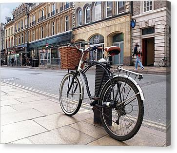 Canvas Print featuring the photograph The Wheels Of Justice - Cambridge Magistrates Court by Gill Billington