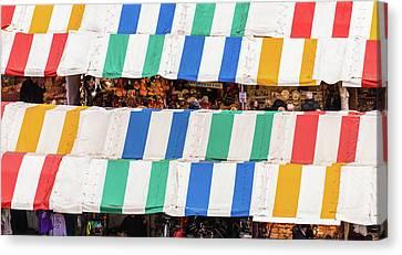 Cambridge Market Stripes Canvas Print by David Warrington