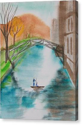 Cambridge River View Canvas Print by Leo Boucher