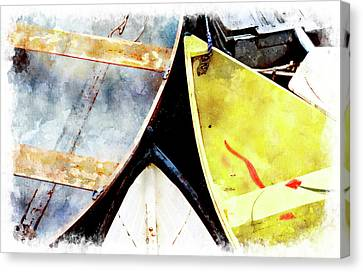 Camden Dories Wc Canvas Print by Peter J Sucy