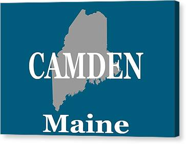 Canvas Print featuring the photograph Camden Maine State City And Town Pride  by Keith Webber Jr