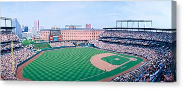 Camden Yard Stadium, Baltimore, Orioles Canvas Print by Panoramic Images