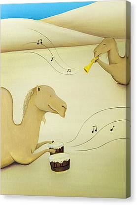 Camel Band Canvas Print by Lael Borduin