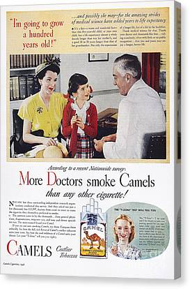 Camel Cigarette Ad, 1946 Canvas Print by Granger