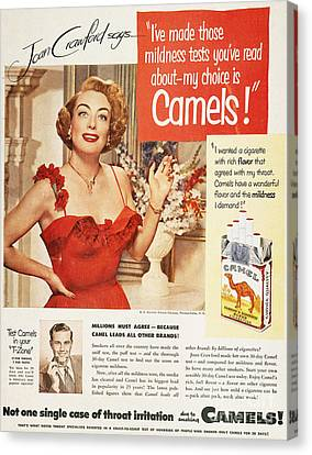Camel Cigarette Ad, 1951 Canvas Print by Granger