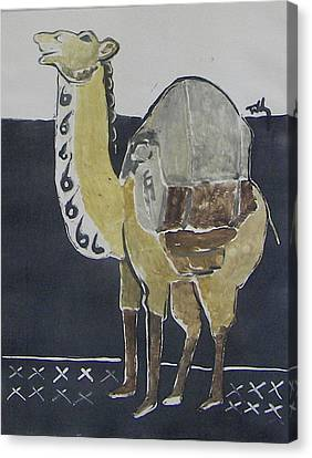 Camel Facing Left Canvas Print by Thomas Tribby