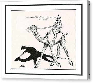 Camel Race Canvas Print by Loretta White