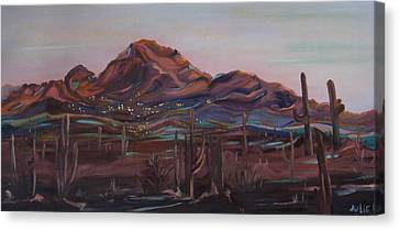 Camelback Mountain Canvas Print by Julie Todd-Cundiff