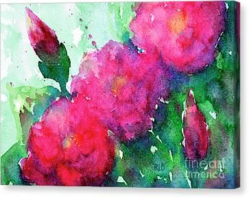 Camellia Abstract Canvas Print