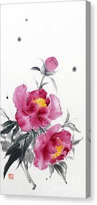 Camellia / Tsubaki Canvas Print
