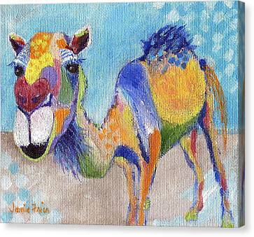 Canvas Print featuring the painting Camelorful by Jamie Frier