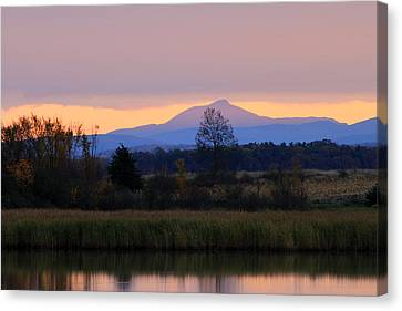 Camel's Hump Mountain From Dead Creek Canvas Print by John Burk