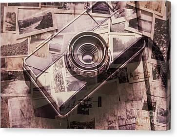 Camera Of A Vintage Double Exposure Canvas Print by Jorgo Photography - Wall Art Gallery