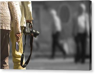 Cameras Unholstered Canvas Print by Hazy Apple