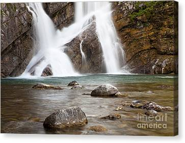 Cameron Falls In Waterton Lakes National Park Canvas Print