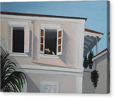 Camille Pissaro Courtyard Canvas Print by Robert Rohrich
