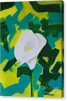 Camo Calla Lilly Canvas Print by Marsha Heiken