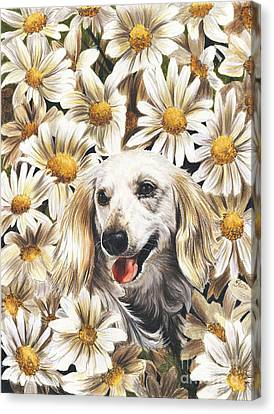 Canvas Print featuring the drawing Camoflaged by Barbara Keith