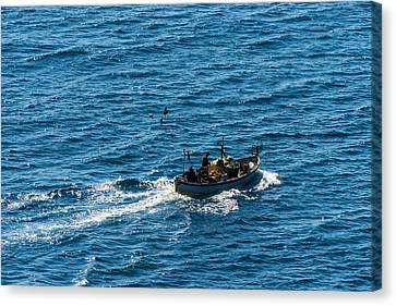 Camogli Fishermen Boat Canvas Print