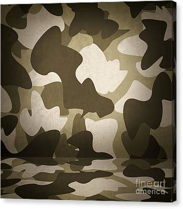 Camouflage Military Interior Background Canvas Print by Jorgo Photography - Wall Art Gallery
