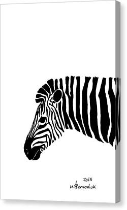 Camouflaged Profile Canvas Print by Kayleigh Semeniuk