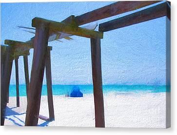 Camp Helen State Park Pier Panama City Beach Florida Art Canvas Print by Vizual Studio