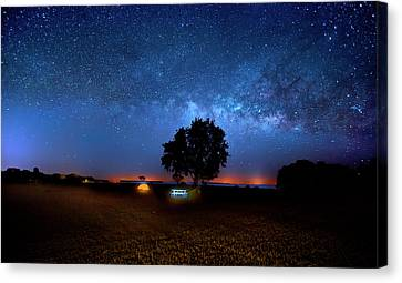 Canvas Print featuring the photograph Camp Milky Way by Mark Andrew Thomas