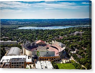 Camp Randall Stadium - Madison Wisconsin Canvas Print by Mountain Dreams